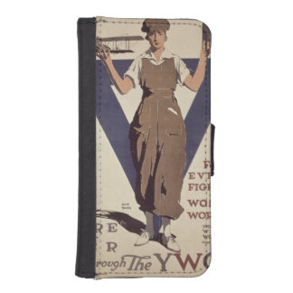 For Every Fighter a Woman Worker iPhone SE/5/5s Wallet Case