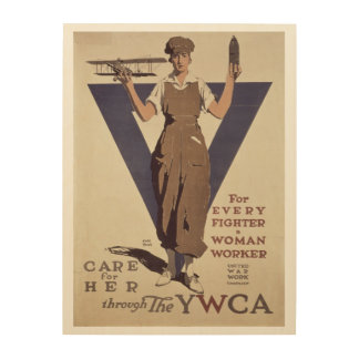 For Every Fighter a Woman Worker Wood Wall Decor