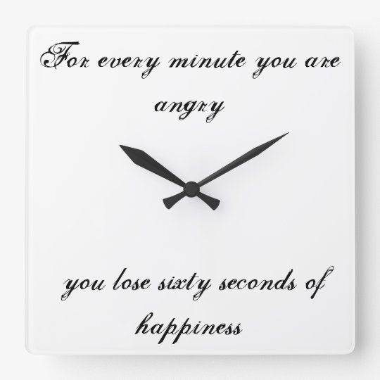For every minute you are angry. square wall