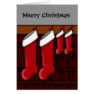 For expecting parents of twins Christmas stockings Greeting Card