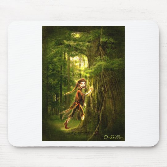 ..for faery folks live in old oaks mouse mat