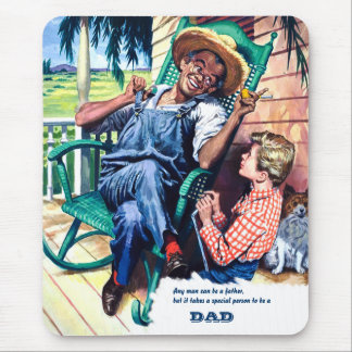 For Father on Father's Day. Vintage Art Mousepads