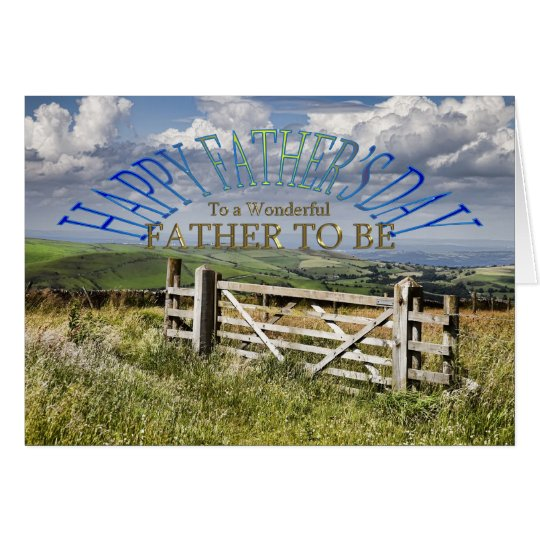 For Father to be, a Father's day landscape Card