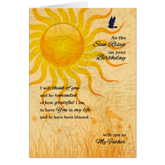 for Father's Birthday Sentimental Sunrise Greeting Card