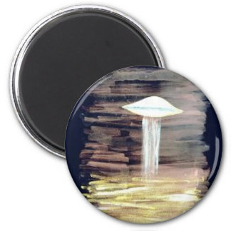 For Fear of Little Men - VISION D-8 UFO Book Cover 6 Cm Round Magnet
