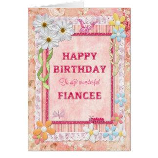 For Fiancee, craft birthday card