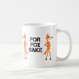 For Fox Sake Arguing Foxes Coffee Mug