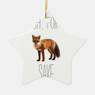 For Fox Sake Arty Cutout Ceramic Star Decoration