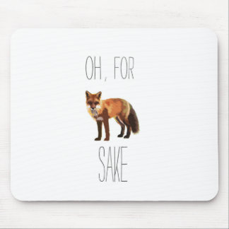 For Fox Sake Arty Cutout Mouse Mat