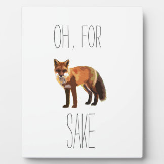 For Fox Sake Arty Cutout Plaque