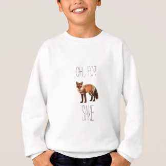 For Fox Sake Arty Cutout Sweatshirt