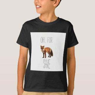 For Fox Sake Arty Cutout T-Shirt