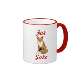 for fox sake mug coffee mugs
