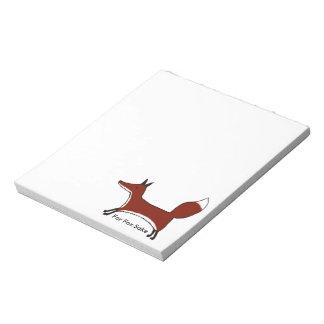 For Fox Sake Notepad