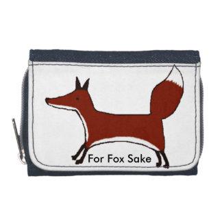 """For Fox Sake"" wallet  - cute fox by Kawaii DayZoo"
