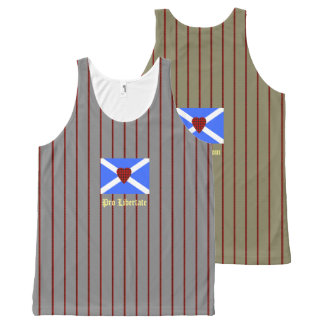 For Freedom William Wallace Tartan Heart All-Over Print Tank Top