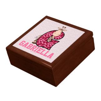 """for Girl's Pink Giraffe Monogram """"G"""" Gift Box"""