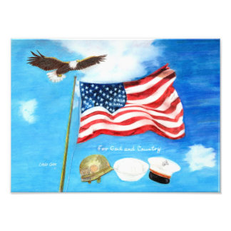 For God and Country print Art Photo