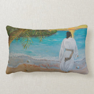 """""""For God So Loved The World"""" 13"""" x 21"""" Pillow Cushion"""