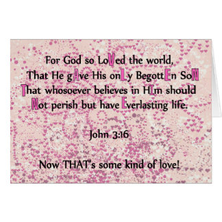 For God So Loved The World - Greeting Card