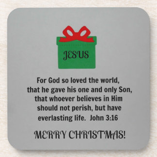 For God so loved the world Drink Coaster