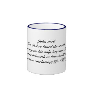 For God so loved the world cup Ringer Coffee Mug