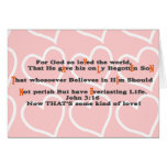 For God so loVed the world, - Customised Card