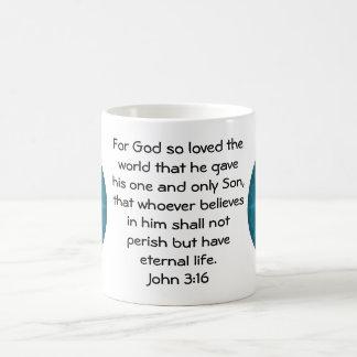 For God so loved the world ...   John 3:16 Basic White Mug
