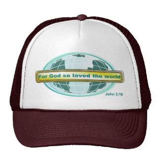 For God so loved the world, John 3:16 Mesh Hat