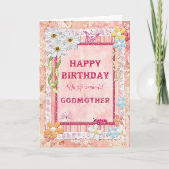 For Godmother Craft Birthday Card