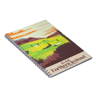 'For Golf' Northern Ireland Travel poster Notebooks