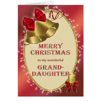 For granddaughter, traditional Christmas card
