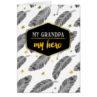 For Grandpa on Father's Day Custom Greeting Cards
