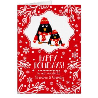 For Grandparents at Christmas Custom Greeting Card