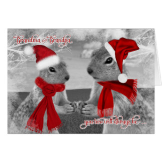 for Grandparents Christmas | Squirrel Love Greeting Card