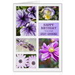 For Great Grandma,Lavender hues floral birthday Greeting Card