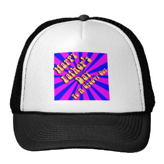 For Groovy Guy  Retro Father's Day (Pink & Blue) Trucker Hats