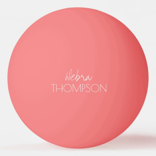 for her a pink table-tennis-ball ping pong ball