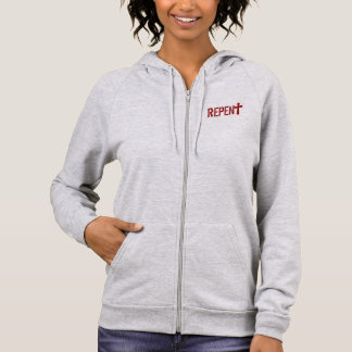 for HER (adult): REPENT + Acts 3:19 Hoodie