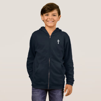 for HIM (youth): cross Hoodie