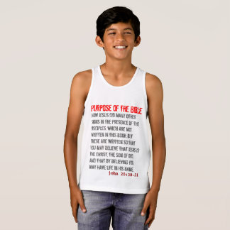 for HIM (youth): Purpose of the Bible Tank Top