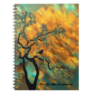 For His eyes are upon me Notebook