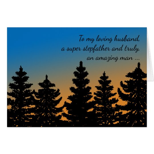 For Husband | Stepfather | Pine Trees Father's Day Card