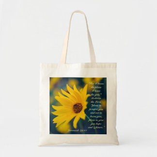 For I Know the Plans I Have, Bible Verse, Flower Tote Bag
