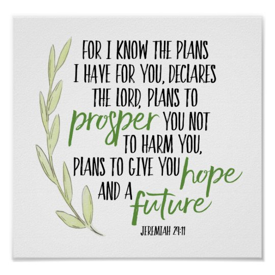 For I know the Plans I have for