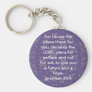 For I know the plans I have  - Jeremiah 29:11 Key Ring