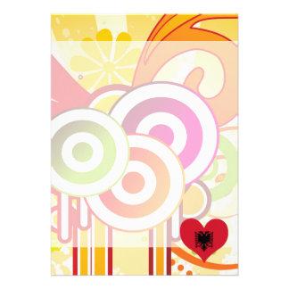 For Kids: Cool Albania 13 Cm X 18 Cm Invitation Card