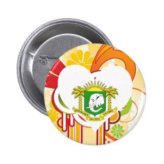 For Kids: Cool Ivory Coast 6 Cm Round Badge
