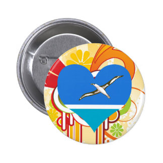 For Kids: Cool Midway Islands 6 Cm Round Badge