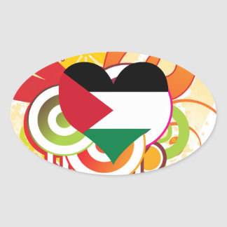 For Kids: Cool Palestine Oval Sticker